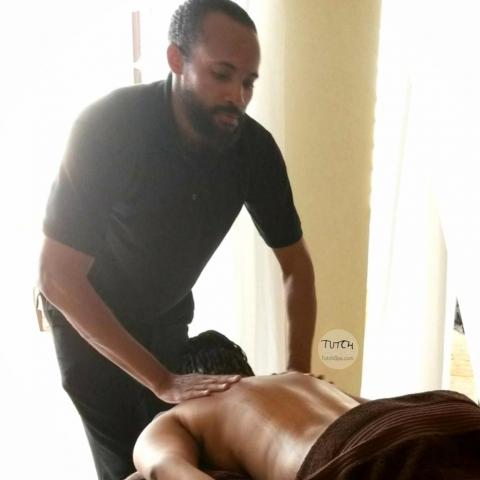 Barbados massages in progress