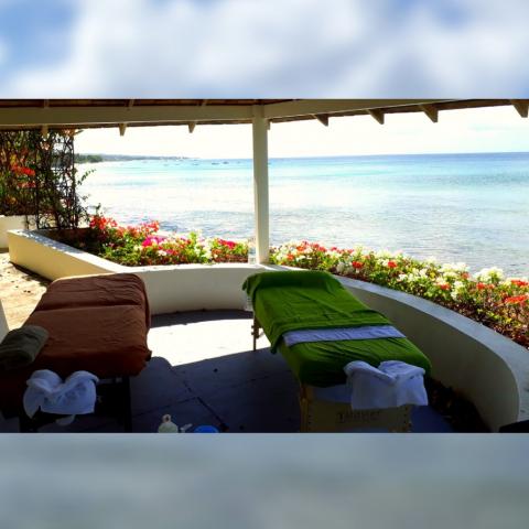 Beachfront Massages in Barbados under the Gazebo